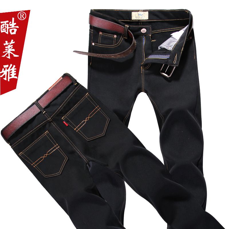 8包邮   酷莱雅 男士加绒加厚牛仔裤 ,采用棉涤混纺面料,吸湿性好