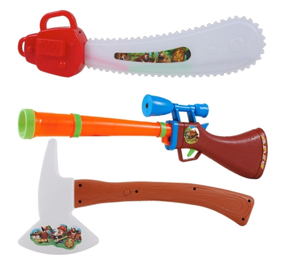 熊出没玩具套装 光头强玩具枪
