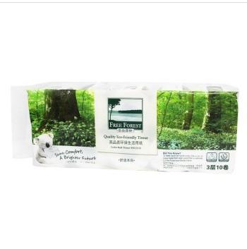 京东商城 自由森林 260节3层压花卷筒卫生纸 10卷装 15.9元 原价29.