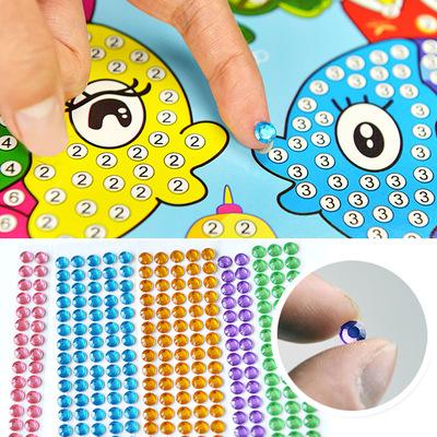 天貓 兒童創意diy手工制作水晶貼畫貼紙